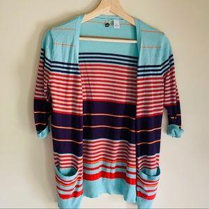 BP multicolor striped cardigan S